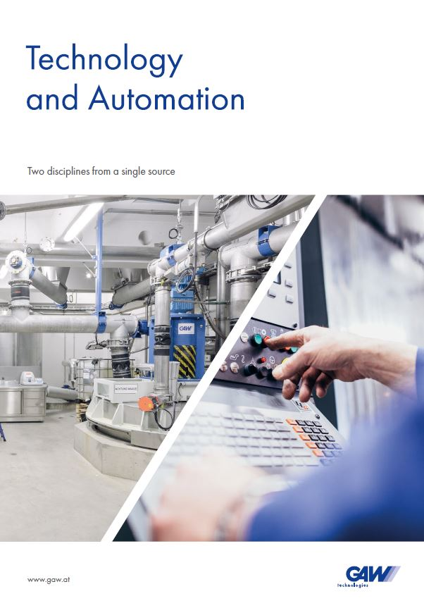 GAW product catalogue Technologie and Automation front